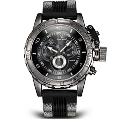 V6 Heren Militair horloge Polshorloge Kwarts Japanse quartz Rekenliniaal Silicone Band Zwart Wit Blauw Grijs