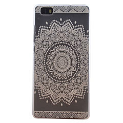 For Huawei etui P8 Lite Syrematteret Etui Bagcover Etui Mandala-mønster Hårdt PC for Huawei Huawei P8 Lite