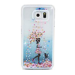 halpa Galaxy S6 kotelot / kuoret-Etui Käyttötarkoitus Samsung Galaxy Samsung Galaxy kotelo Virtaava neste Takakuori Piirretty PC varten S6 edge S6