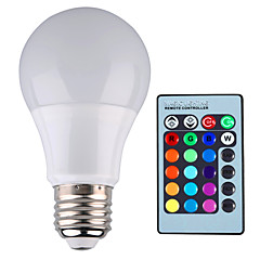 cheap LED & Lighting-YWXLIGHT® 500 lm E26/E27 LED Globe Bulbs A60(A19) 1 leds High Power LED Dimmable Decorative Remote-Controlled RGB AC 85-265V