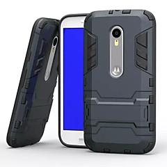 plastyczne i TPU 2 w 1 przypadku pokrywy z podstawą zbroi z powrotem skrzynki shockp dla Motorola Moto g3