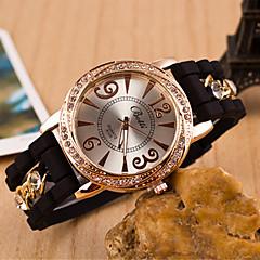 お買い得  メンズ腕時計-男性用 リストウォッチ ダミー ダイアモンド 腕時計 クォーツ 合金 バンド ハンズ ブラック / 白 / ブルー - グリーン ブルー ピンク