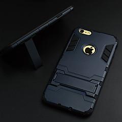 Недорогие Кейсы для iPhone 6 Plus-Кейс для Назначение Apple iPhone 6 Plus / iPhone 6 со стендом / Ультратонкий Кейс на заднюю панель броня Твердый ПК для iPhone 6s Plus / iPhone 6s / iPhone 6 Plus