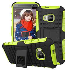 pc duro armadura exibição kickstand caso híbrido tampa de combinação + caso TPU para HTC e9 / e9 plus / M8 / M9 / desejo 820 mini-