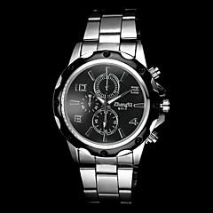 preiswerte Herrenuhren-Herrn Quartz Armbanduhr Armbanduhren für den Alltag Legierung Band Charme Silber