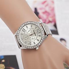 Męskie Damskie Dla par Modny Sztuczny Diamant Zegarek Kwarcowy sztuczna Diament szwajcarski Designerskie Stop Pasmo SrebroGold Silver