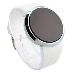 preiswerte Tolle Angebote auf Uhren-Herrn digital Armbanduhr Touchscreen Wasserdicht LED Silikon Band Kreativ Schwarz