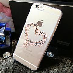 Недорогие Кейсы для iPhone 6-Кейс для Назначение Apple iPhone 6 iPhone 6 Plus Прозрачный С узором Кейс на заднюю панель С сердцем Мягкий ТПУ для iPhone 6s Plus iPhone