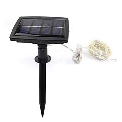 お買い得  LED ストリングライト-200led太陽光発電の文字列には、屋外庭園の家のクリスマスパーティーのための星空銀銅線の妖精の雰囲気を点灯