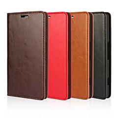 Mert Nokia tok Pénztárca / Kártyatartó / Állvánnyal Case Teljes védelem Case Egyszínű Kemény Valódi bőr Nokia Nokia Lumia 950 / Other