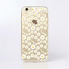 Недорогие Кейсы для iPhone 7-Кейс для Назначение Apple iPhone X / iPhone 8 / iPhone 6 Plus С узором Кейс на заднюю панель Цветы Мягкий ТПУ для iPhone X / iPhone 8 Pluss / iPhone 8