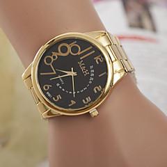 preiswerte Armbanduhren für Paare-Herrn Damen Paar Modeuhr Kleideruhr Quartz Designer schweizerisch Leder Band Analog Gold - Weiß Schwarz