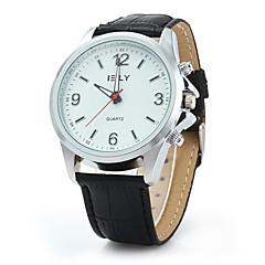 お買い得  メンズ腕時計-男性用 リストウォッチ PU バンド ブラック / レッド / ブラウン