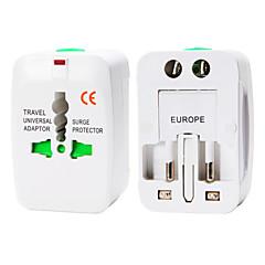 whirldy alt i ett internasjonalt adapter universell world wide reiselader adapter plugg, hvit