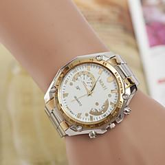 preiswerte Tolle Angebote auf Uhren-Herrn Damen Paar Modeuhr Quartz Designer schweizerisch Edelstahl Band Analog Weiß / Gold - Gold Weiß