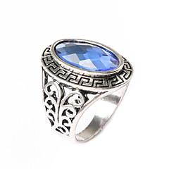 お買い得  指輪-女性用 ステートメントリング - ゴールドメッキ ファッション ワンサイズ ブラック / パープル / ブルー 用途 パーティー