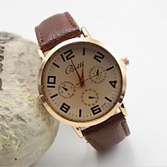 Mulheres Relógio de Moda Quartzo Couro Banda Preta Branco Laranja Marrom Dourada