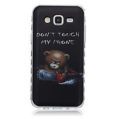 voordelige Galaxy Alpha Hoesjes / covers-hoesje Voor Samsung Galaxy Samsung Galaxy hoesje Patroon Achterkant Woord / tekst TPU voor J7 J5 J3 J2 J1 Ace J1 Grand Prime Core Prime