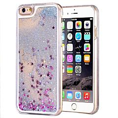 Недорогие Кейсы для iPhone-Кейс для Назначение Apple iPhone 6 iPhone 6 Plus Движущаяся жидкость Прозрачный Кейс на заднюю панель Сияние и блеск Твердый ПК для