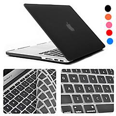 رخيصةأون اكسسوارات ماك بوك-MacBook صندوق أغطية مع لوحة مفتايح لون سادة ABS إلى MacBook Pro 15-inch / MacBook Air 13-inch / MacBook Pro 13-inch