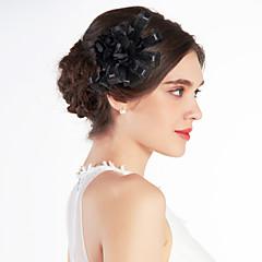 Недорогие Женские украшения-хорошая свадьба тюль свадебное черный цвет / корсаж / головной убор