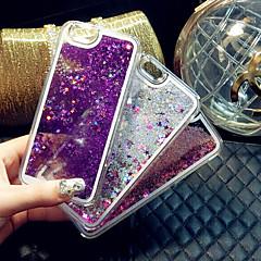 Недорогие Кейсы для iPhone-Кейс для Назначение Apple iPhone X iPhone 8 Plus iPhone 6 iPhone 6 Plus Движущаяся жидкость Кейс на заднюю панель Сплошной цвет Твердый ПК