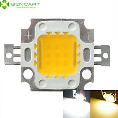 10w 900lm 흰색 / 따뜻한 화이트 3000K / 6000K 높은 밝은 LED 조명 램프 칩 직류 32-35v