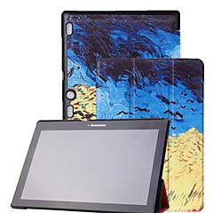 preiswerte Tablet-Hüllen-Hülle Für Lenovo Ganzkörper-Gehäuse Tablet-Hüllen Druck Hart PU-Leder für