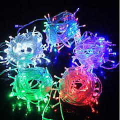 olcso LED szalagfények-LED füzér tündér fény fénykibocsátó dióda f5 100led vízálló / IP65 3 színű fény ac180-240v 10m / csomó