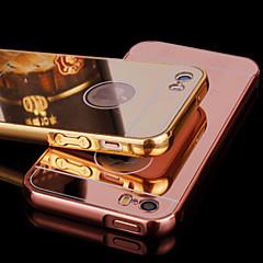 voordelige iPhone 5 hoesjes-hoesje Voor iPhone 5 Apple iPhone 5 hoesje Beplating Spiegel Achterkant Effen Kleur Hard Acryl voor iPhone SE/5s