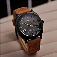 preiswerte Tolle Angebote auf Uhren-CURREN Herrn Armbanduhr Schlussverkauf Leder Band Charme / Edelstahl / SSUO 377
