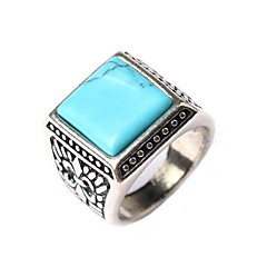 Ring Daily Casual Jewelry Alloy Gem Women Statement Rings 1pc,7 8 9 10 Black Blue