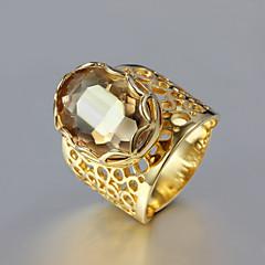 お買い得  指輪-女性用 バンドリング  -  ラインストーン, ゴールドメッキ ファッション 6 / 7 / 8 ゴールデン 用途 結婚式 / パーティー / 日常