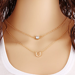 preiswerte Halsketten-Damen Mehrschichtig Halskette - Retro, Freizeit, Modisch Gold Modische Halsketten Schmuck Für Halloween