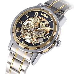 WINNER Męskie Do sukni/garnituru Modny zegarek mechaniczny Mechaniczny, nakręcanie ręczne Nakręcanie automatyczne Duża tarcza Świecący