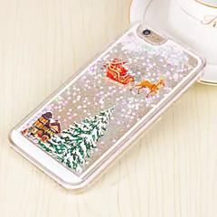 Недорогие Кейсы для iPhone 6-Кейс для Назначение Apple iPhone 6 iPhone 6 Plus Движущаяся жидкость Кейс на заднюю панель Рождество Твердый ПК для iPhone 6s Plus iPhone