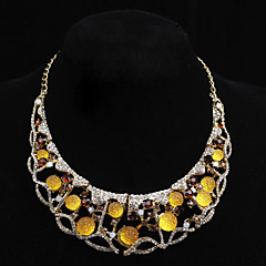 Elgant Gold Plated With Stones Necklace