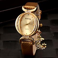 للمرأة ساعات فاشن ساعه اسورة ساعةألماسيمهئيأ كوارتز تقليد الماس PU فرقة مضيئ أسود الأبيض أحمر ذهبي بنفجسي