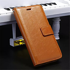 Недорогие Кейсы для iPhone 5-DE JI Кейс для Назначение iPhone 5 / Apple iPhone 8 / iPhone 8 Plus / Кейс для iPhone 5 Кошелек / Бумажник для карт / со стендом Чехол Однотонный Твердый Кожа PU для iPhone 8 Pluss / iPhone 8