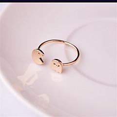 Férfi Női Karikagyűrűk minimalista stílusú jelmez ékszerek Réz Ezüstözött Rózsa arany bevonattal Kígyó Ékszerek Kompatibilitás Esküvő