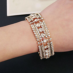 preiswerte Armbänder-Wie im Bild dargestellt - Diamantimitate Breiter Armreif Armbänder Gold / Silber Für Hochzeit Party Besondere Anlässe