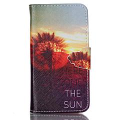 Для Кейс для Sony Кошелек / Бумажник для карт / со стендом / Флип Кейс для Чехол Кейс для Одуванчик Твердый Искусственная кожа для Sony