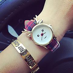 preiswerte Damenuhren-Damen Modeuhr Armbanduhr Quartz Chronograph Nylon Band Analog Mehrfarbig - 4 # 5 # 6 #