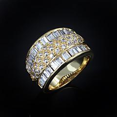 Dames Bandringen Kostuum juwelen Zirkonia Verguld Sieraden Voor Bruiloft Feest Dagelijks Causaal