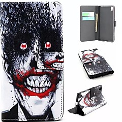 Для Кейс для Sony / Xperia Z5 Кошелек / Бумажник для карт / со стендом / Флип Кейс для Чехол Кейс для Панк Твердый Искусственная кожа для