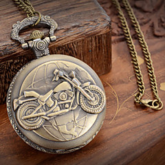 cheap Pocket Watches-Men's Pocket Watch Quartz Casual Watch Metal Band Charm Bronze