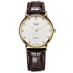 お買い得  大特価腕時計-男性用 クォーツ リストウォッチ 耐水 レザー バンド チャーム ブラック ブラウン