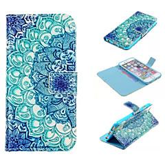 Для Кейс для iPhone 6 / Кейс для iPhone 6 Plus Бумажник для карт / Кошелек / со стендом / Флип / С узором Кейс для Чехол Кейс для Мандала