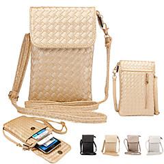 Недорогие Универсальные чехлы и сумочки-Кейс для Назначение iPhone 6s Plus / iPhone 6 Plus / iPhone 6s Кошелек Мешочек Однотонный Мягкий Кожа PU для