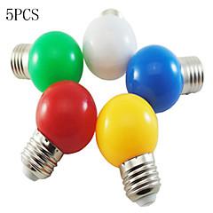 preiswerte LED-Birnen-5 Stück 1 W 50-100 lm E26 / E27 LED Kugelbirnen G45 8 LED-Perlen SMD 2835 Dekorativ Weiß / Rot / Blau 220-240 V / RoHs